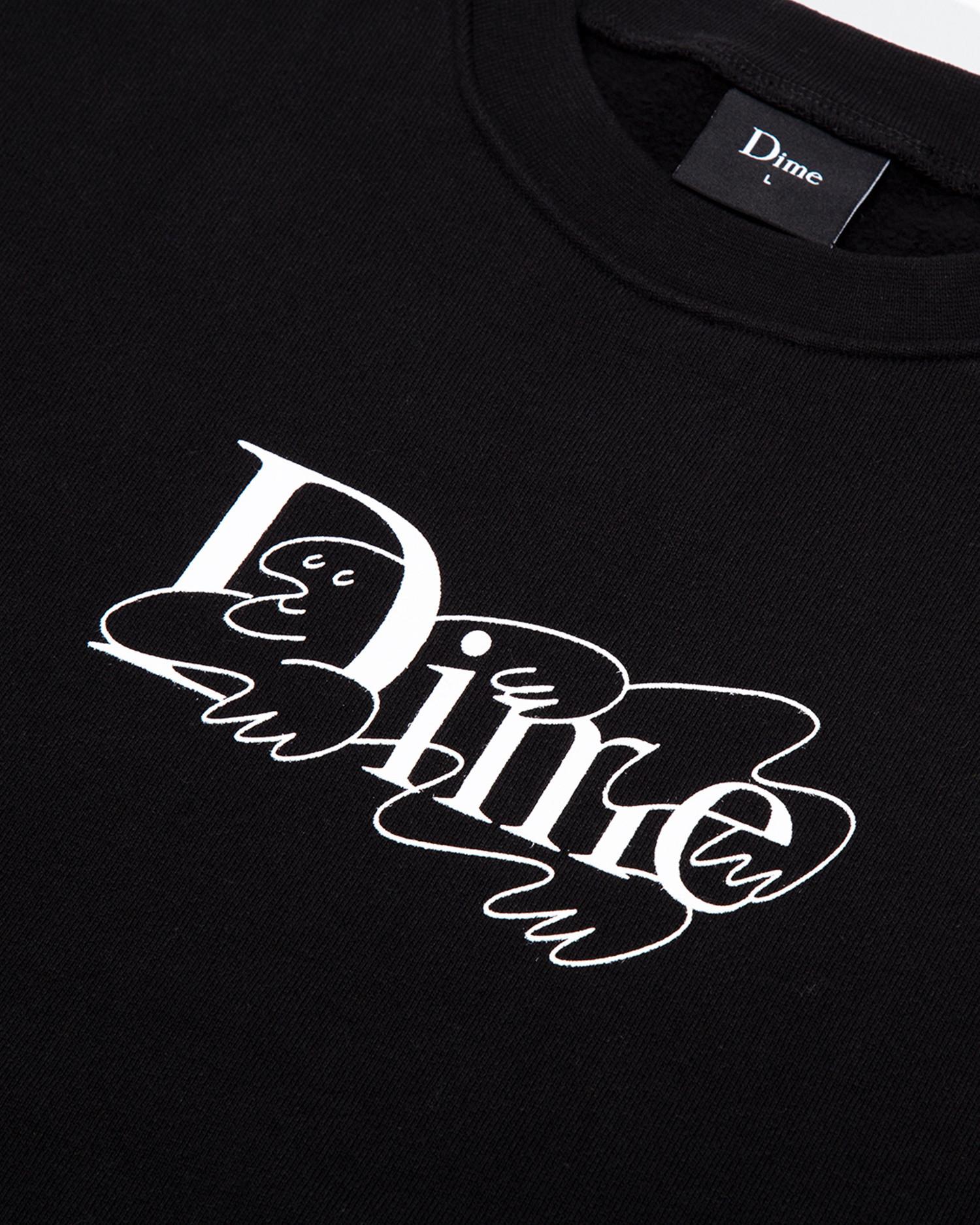 Dime Chilling Classic Logo Crewneck Black