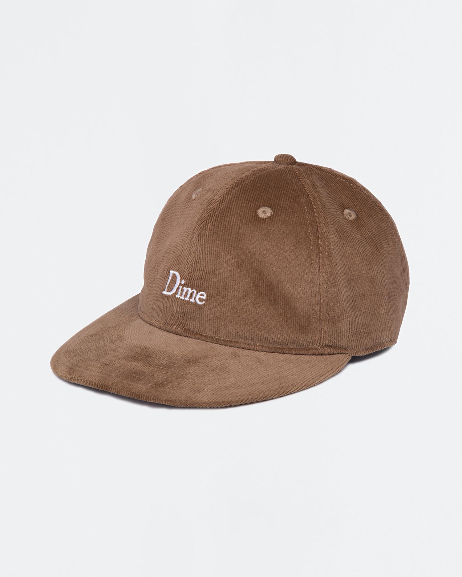 Dime Classic Logo Corduroy Cap Chocolate