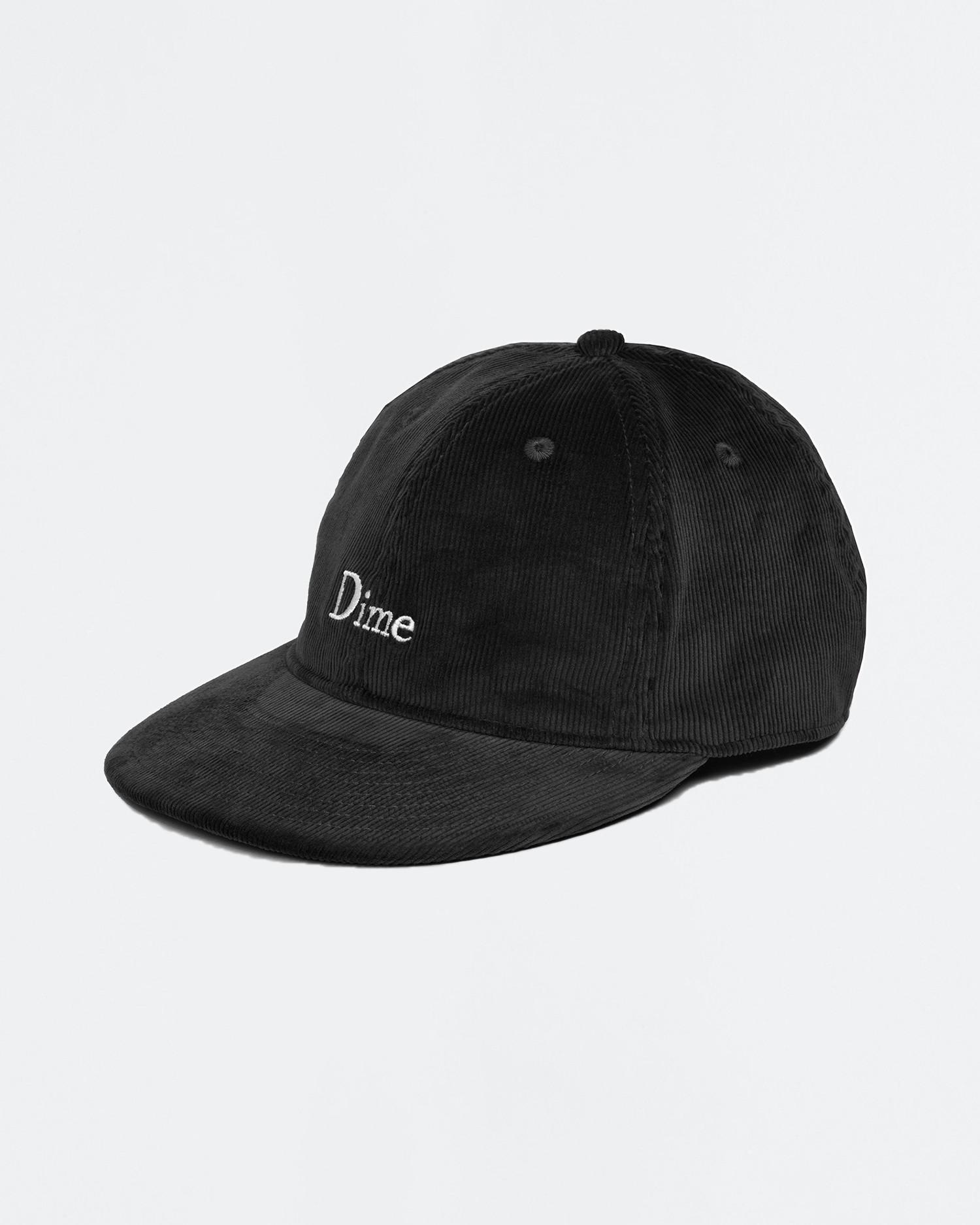 Dime Classic Logo Corduroy Cap Black