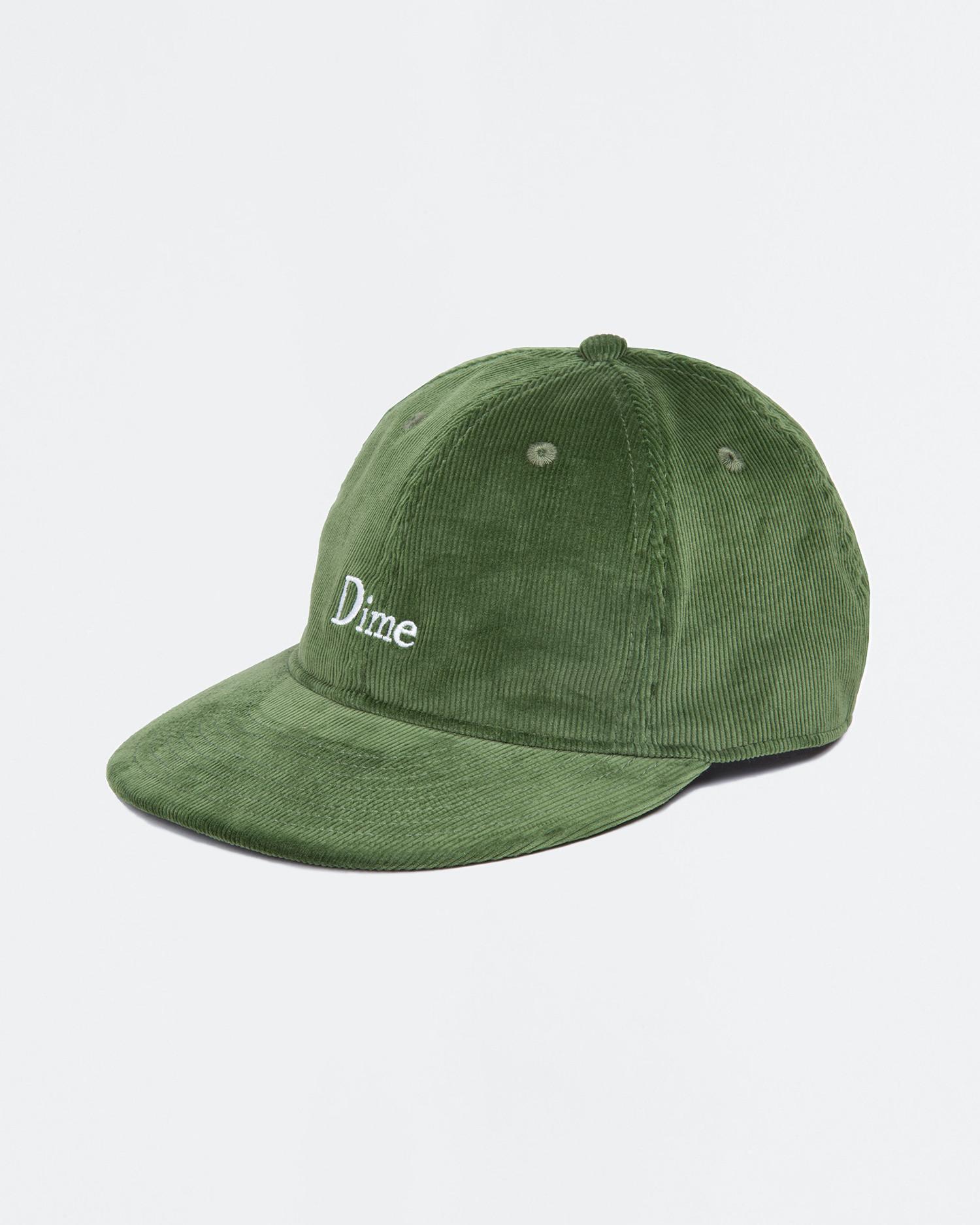Dime Classic Logo Corduroy Cap Green