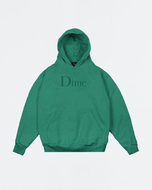 Dime Dime Classic Logo Hoodie Emerald