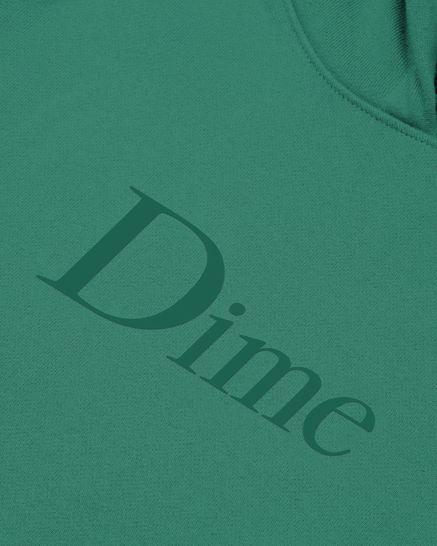 Dime Classic Logo Hoodie Emerald