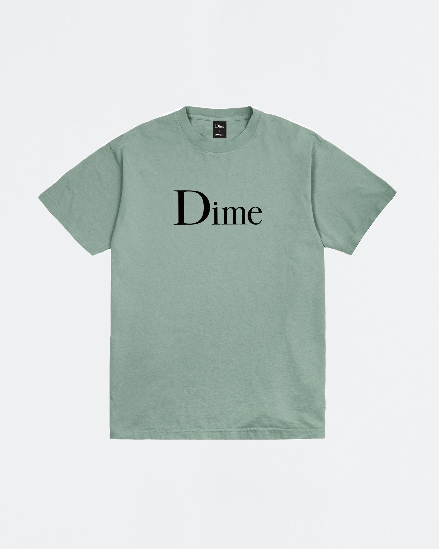 Dime Classic Logo T-shirt Atlantic Green