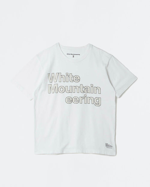 White Mountaineering White Mountaineering Printed T-Shirt Stitched Logo White