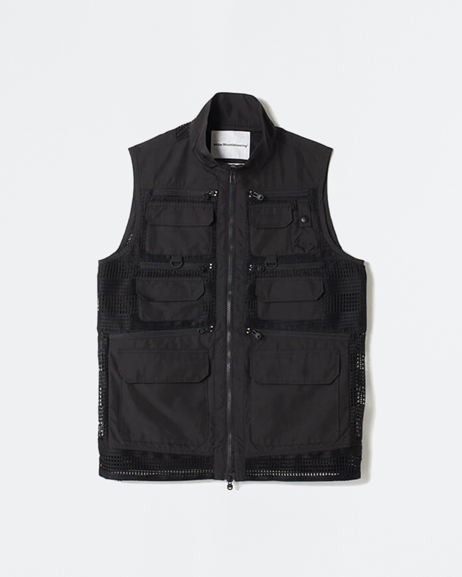 White Mountaineering Mesh Contrasted Luggage Vest Black