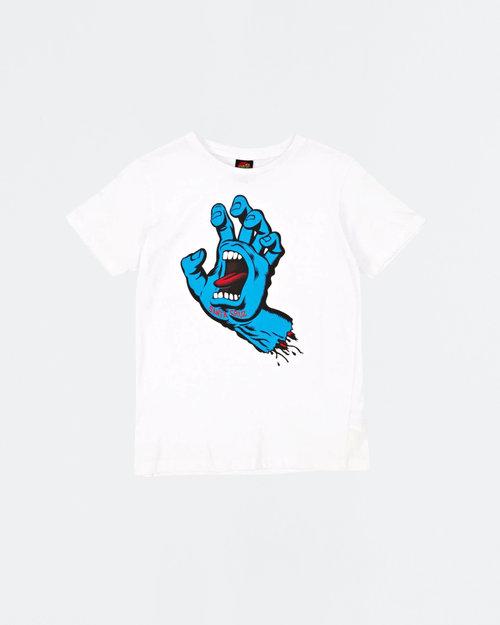 Santa Cruz Santa Cruz Youth T-shirt Screaming Hand White