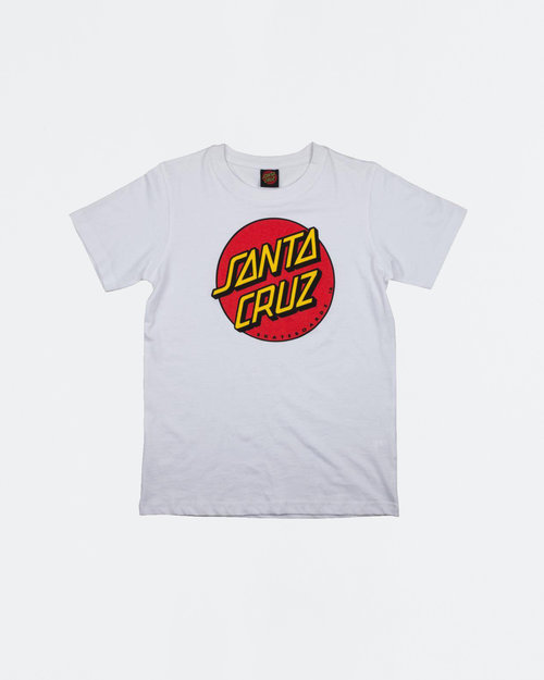 Santa Cruz Santa Cruz Classic Dot Youth T-shirt White