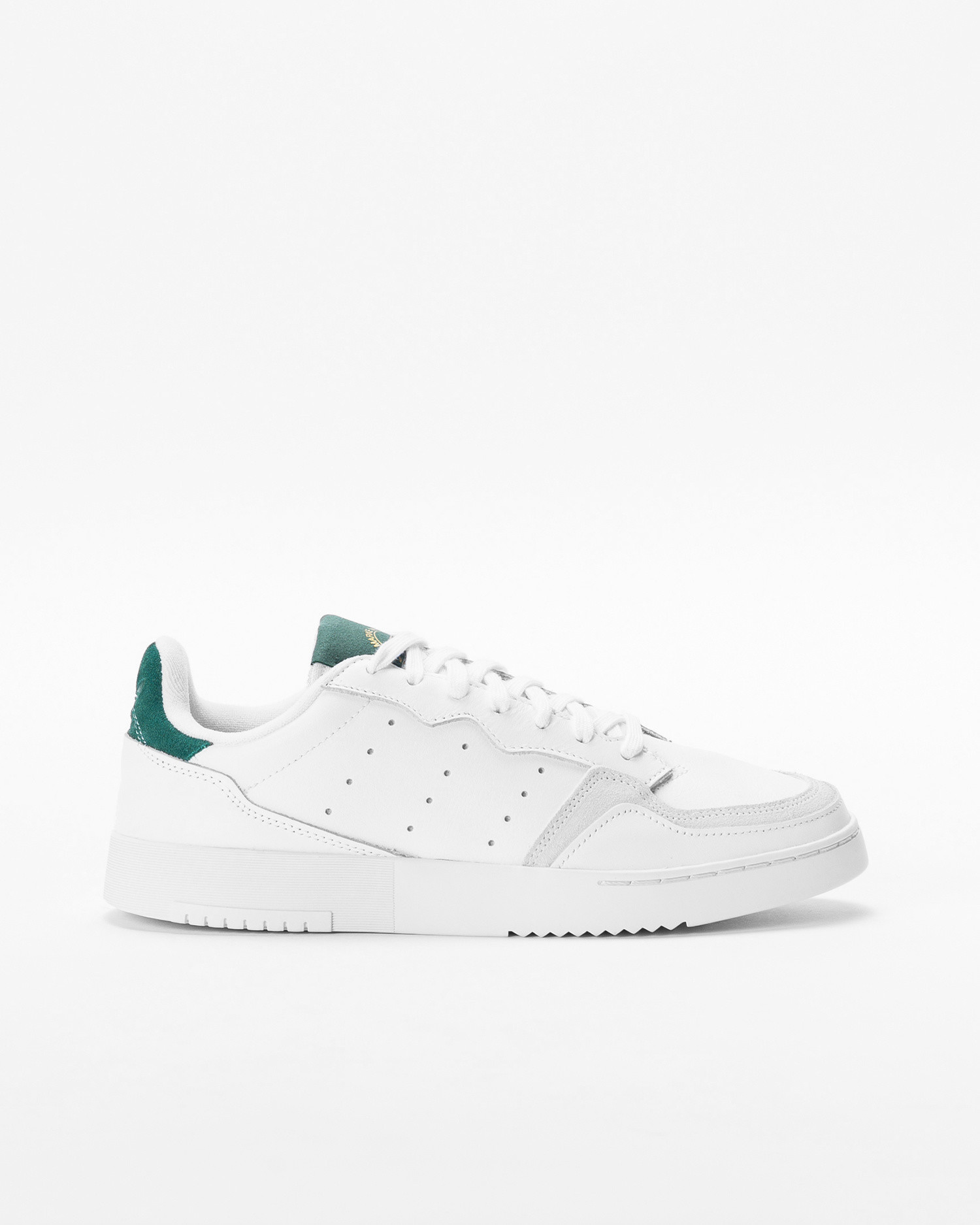 Adidas Supercourt Cloud White / Cloud White / Collegiate Green