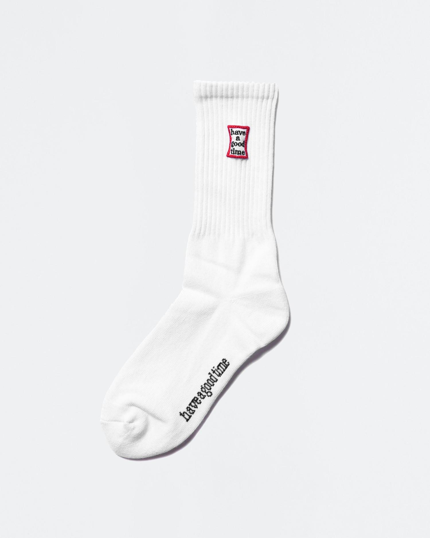 Have A Good Time Frame Socks White