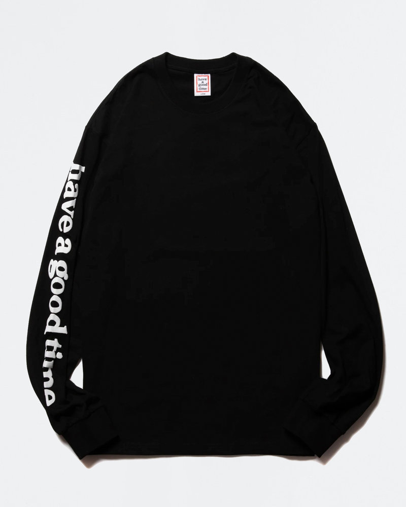 HAVE A GOOD TIME Have A Good TIme Arm Bubble Side Logo Longsleeve Tee Black
