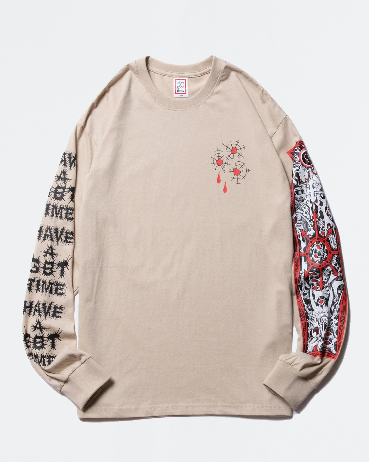 Have A Good TIme Bullet Hole Longsleeve Tee Military Beige