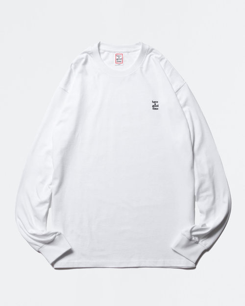 HAVE A GOOD TIME Have A Good TIme Mini Embroidered Logo Longsleeve Tee White