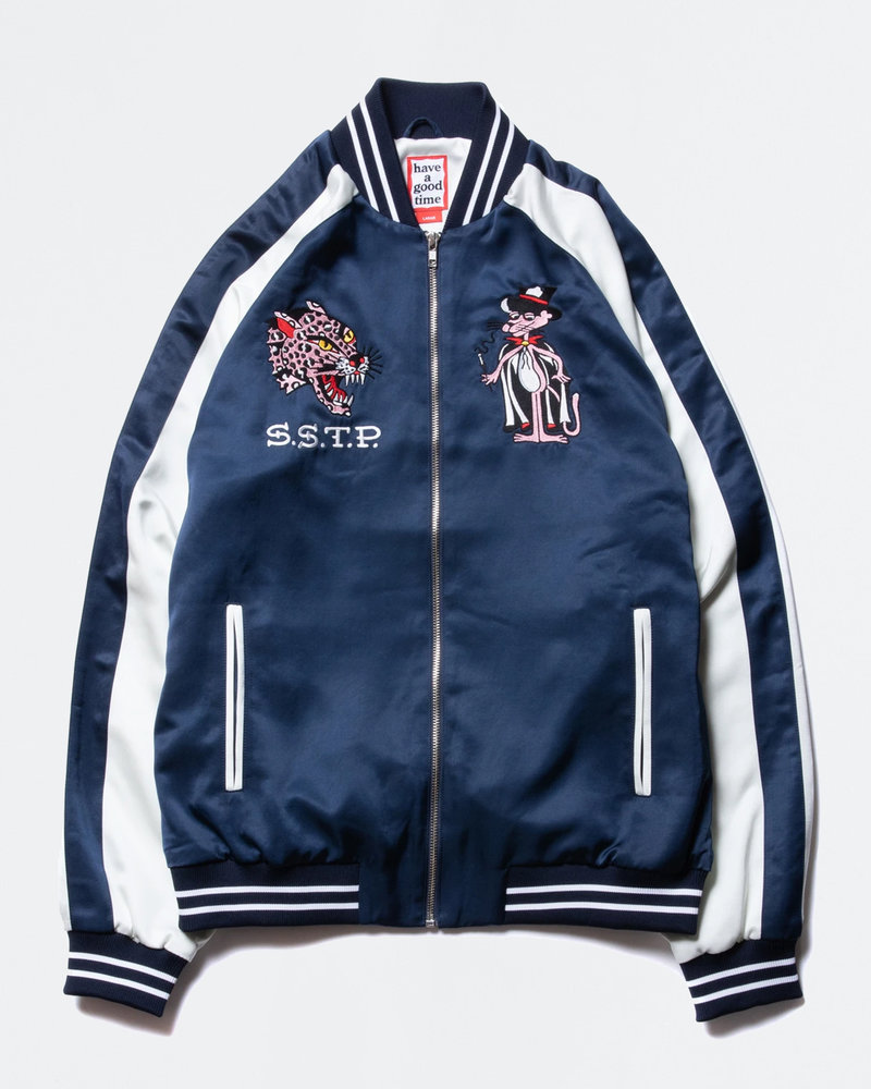 HAVE A GOOD TIME Have A Good TIme Sating Skate Jacket Navy