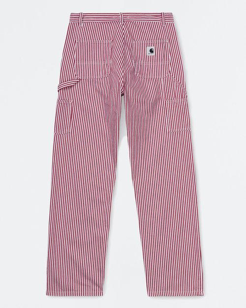 Carhartt Carhartt W'Pierce Pant Straight Cotton Hialeah Hickory Stripe Red/White