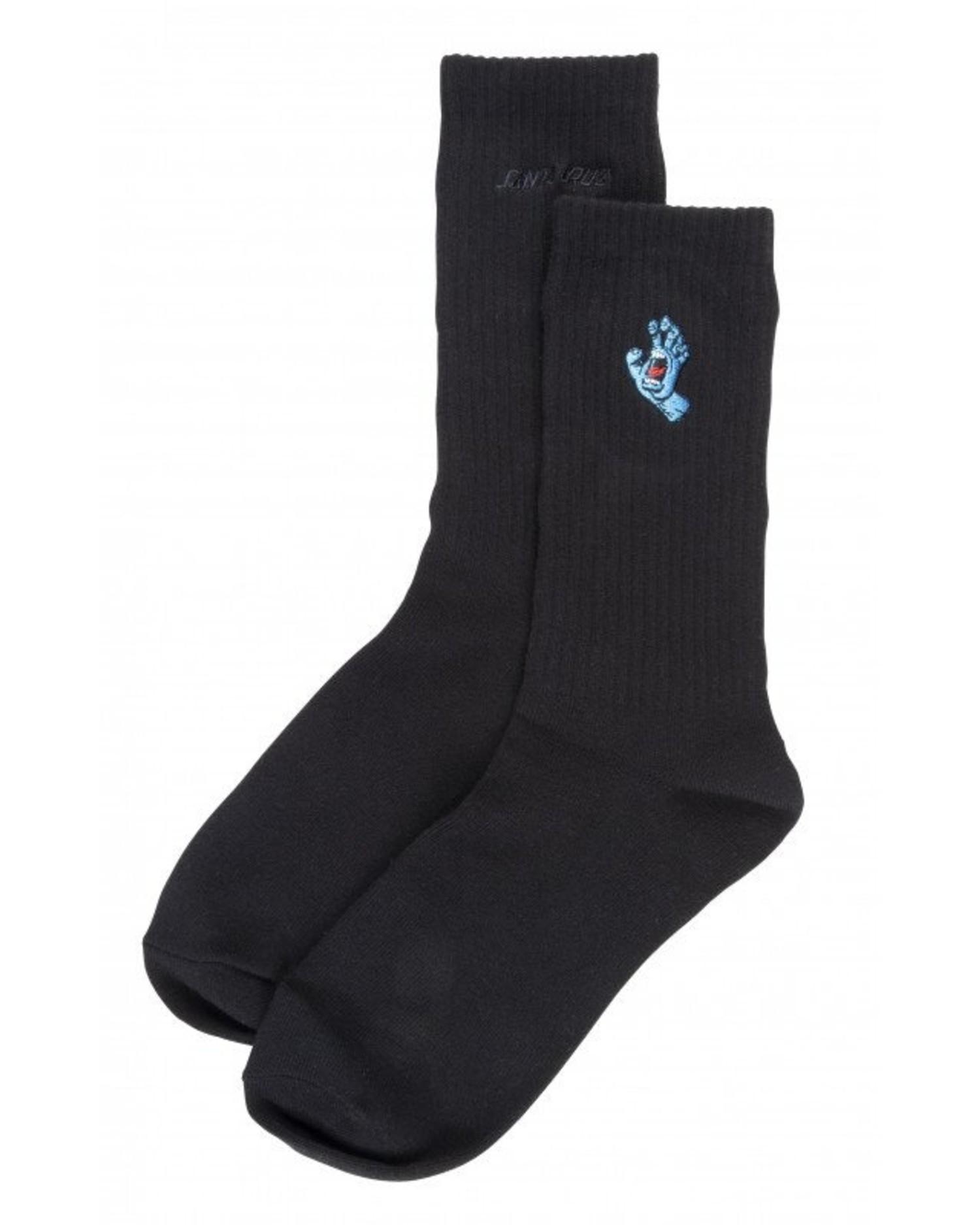 Santa Cruz Socks Screaming Mini Hand Sock Black O/S