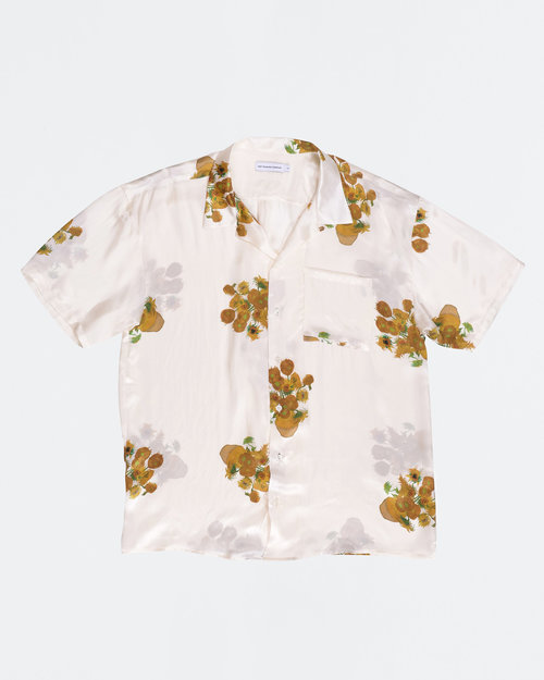 Pop Trading Co Pop Trading Co X Van Gogh Off White Silk Shirt
