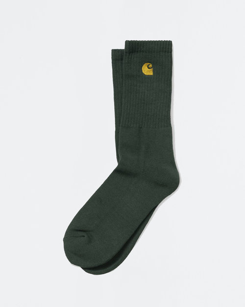 Carhartt Carhartt Chase Socks Bottle Green/Gold