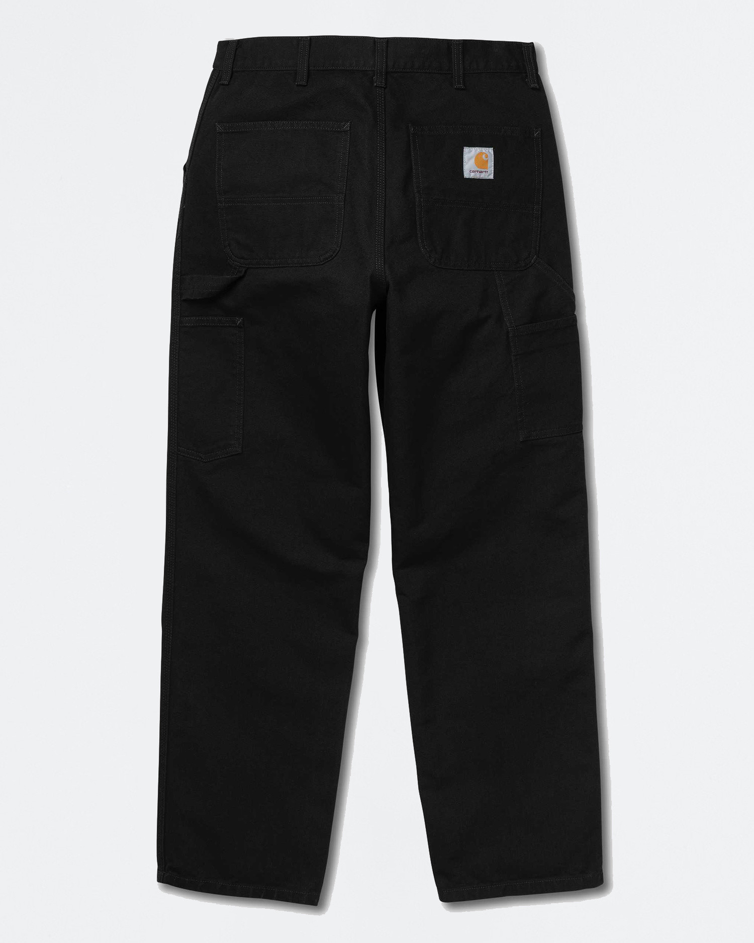 Carhartt Single Knee Pants Organic Cotton Black Rinsed