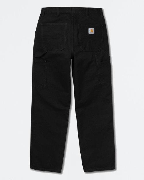 Carhartt Carhartt Single Knee Pants Organic Cotton Black Rinsed