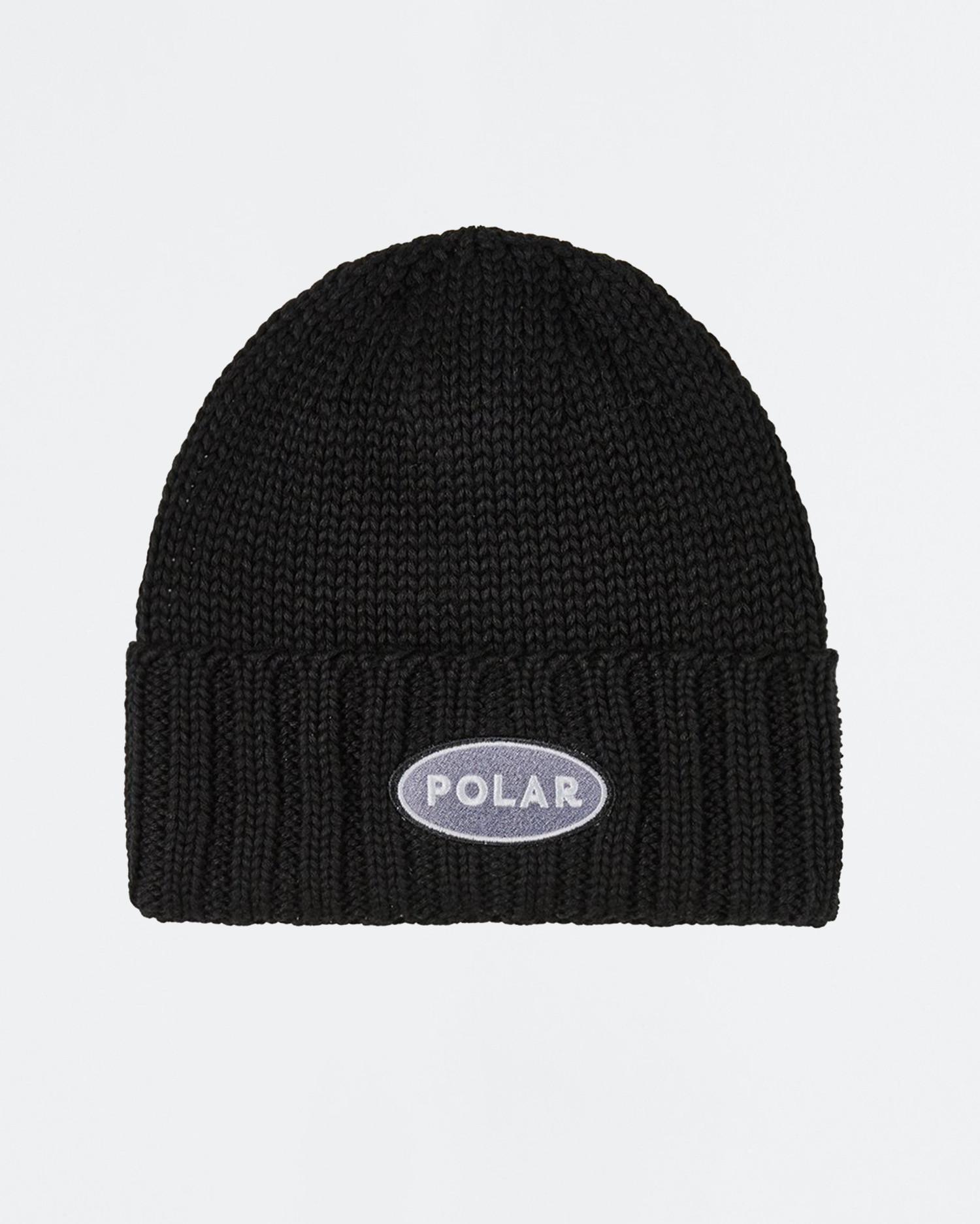 Polar Patch Beanie Black