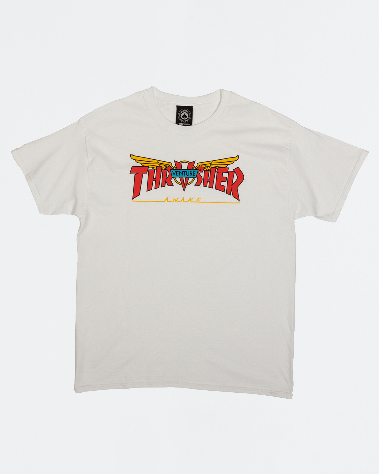 Thrasher X Venture Collab Shortsleeve White