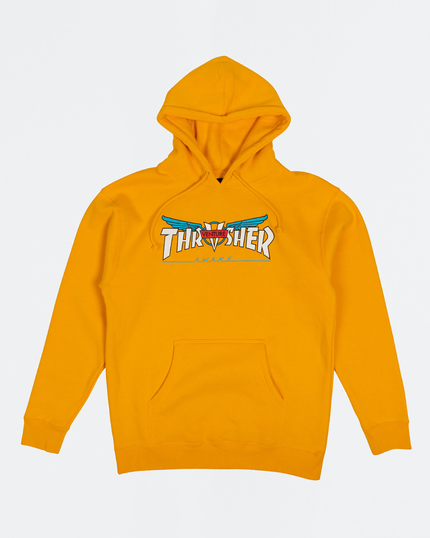 Thrasher X Venture Collab Hoodie Gold