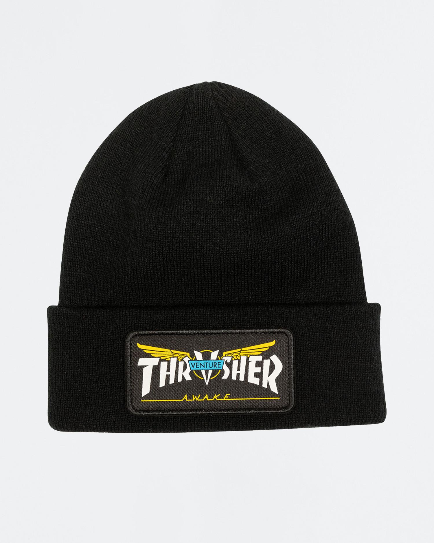 Thrasher Venture Collab Patch Beanie Black