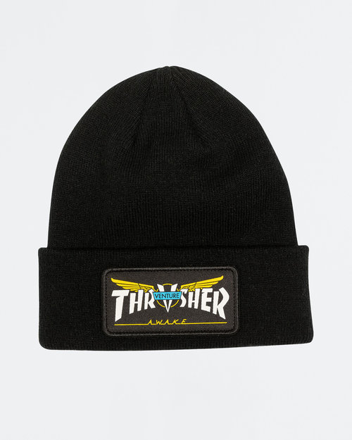 Thrasher Thrasher Venture Collab Patch Beanie Black