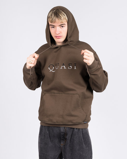 Quasi Quasi Skateboards Wordmark Hood Sweat Dark Olive