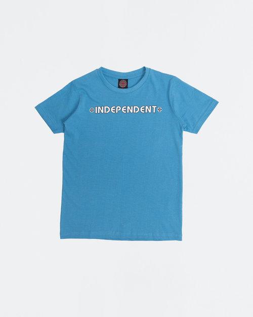 Santa Cruz Independent Youth T-Shirt Bar Cross Tee Carolina Blue