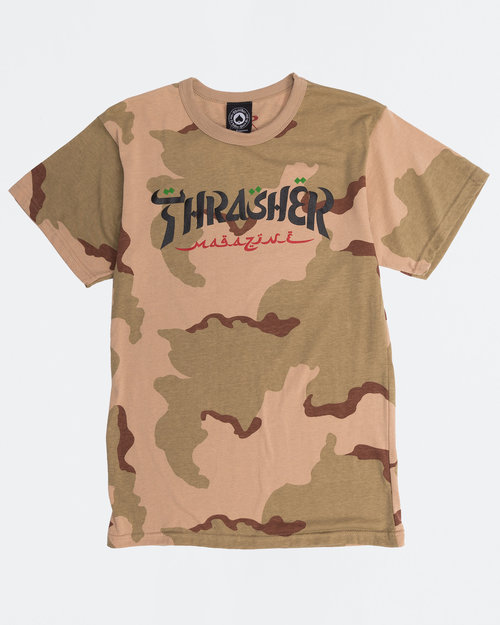 Thrasher Thrasher Calligraphy shortsleeve T-Shirt deser Camo
