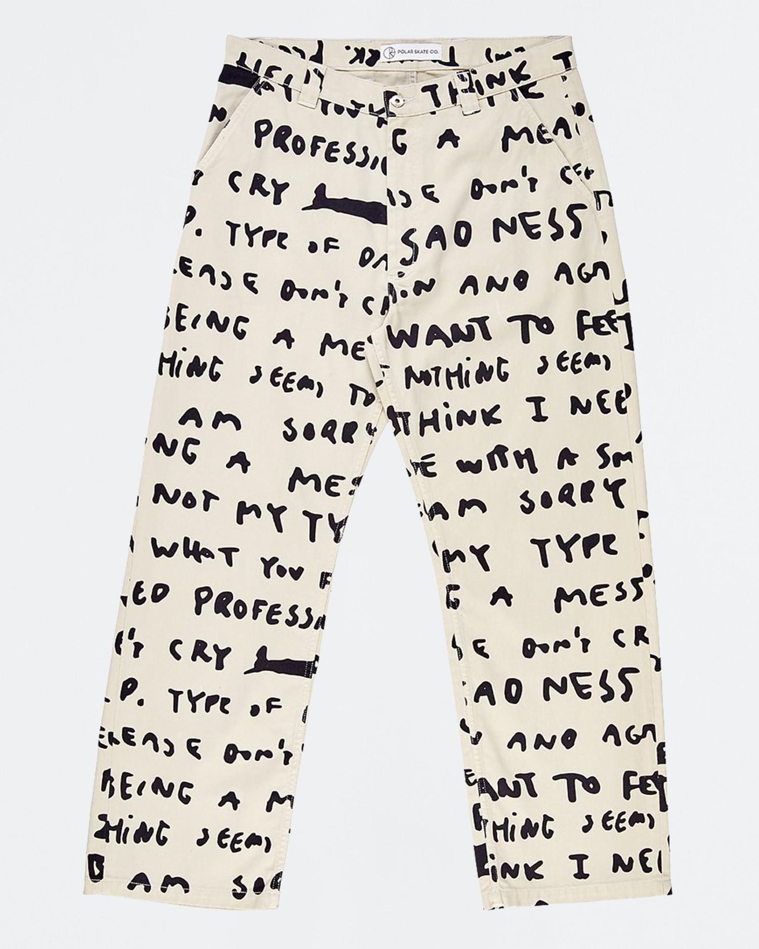 Polar 40's Pant Sad Notes Ivory