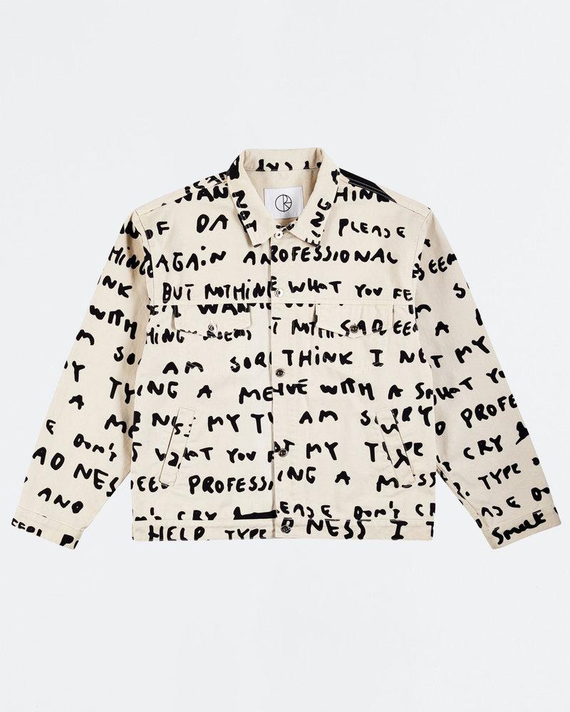 Polar Polar Sad Notes Jeans Jacket Ivory