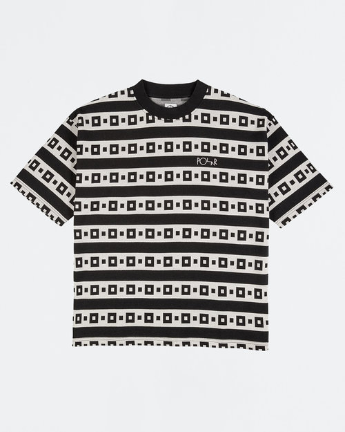 Polar Polar Square Stripe Surf Tee Black