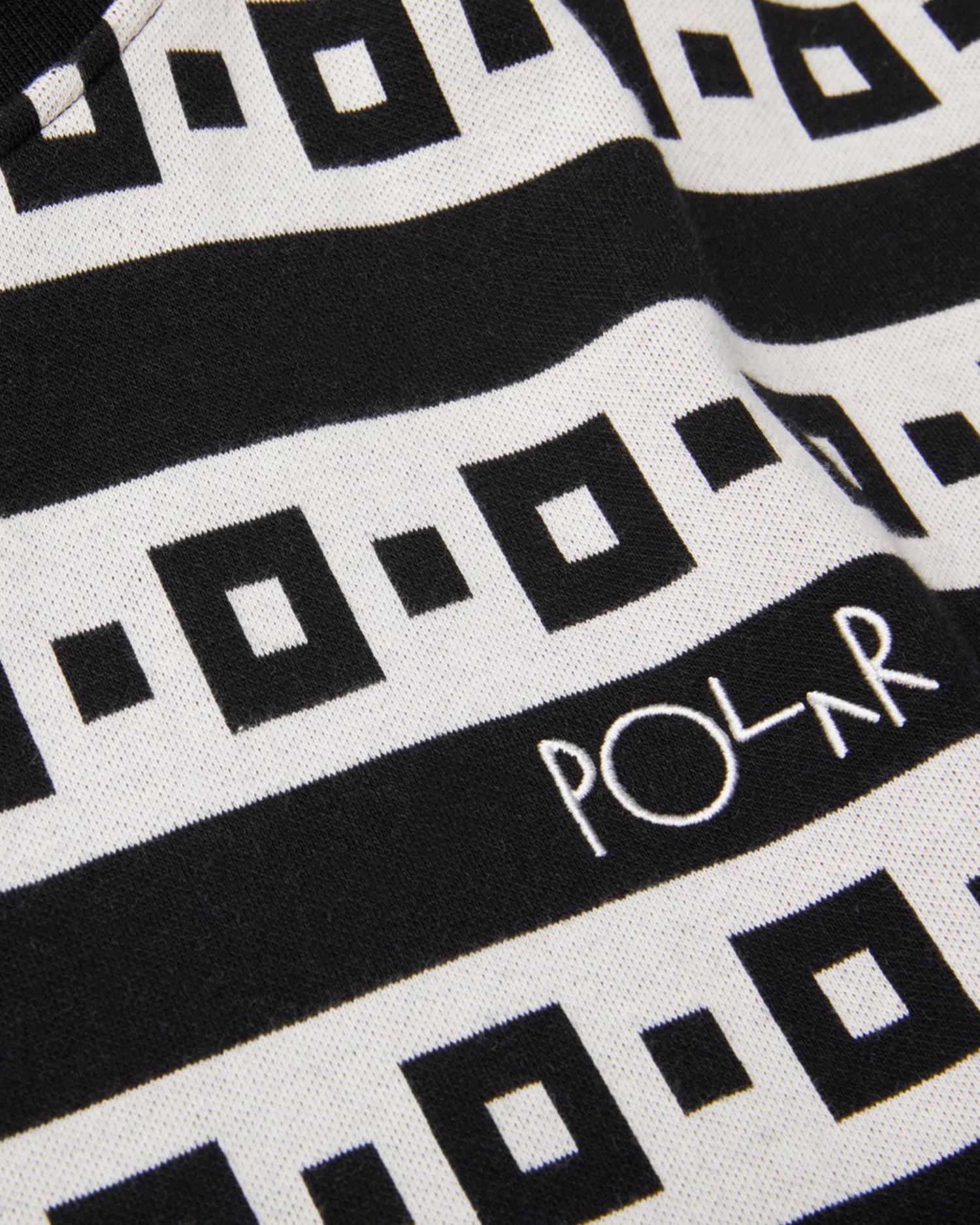 Polar Square Stripe Surf Tee Black