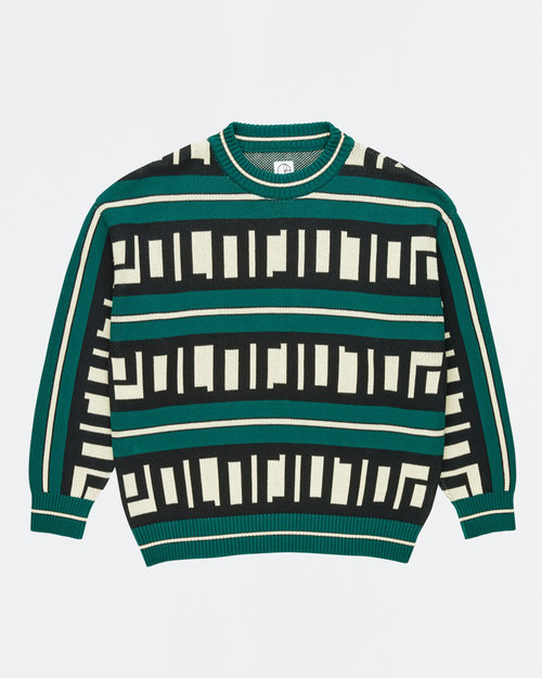 Polar Polar Square Logo Knit Sweater Green