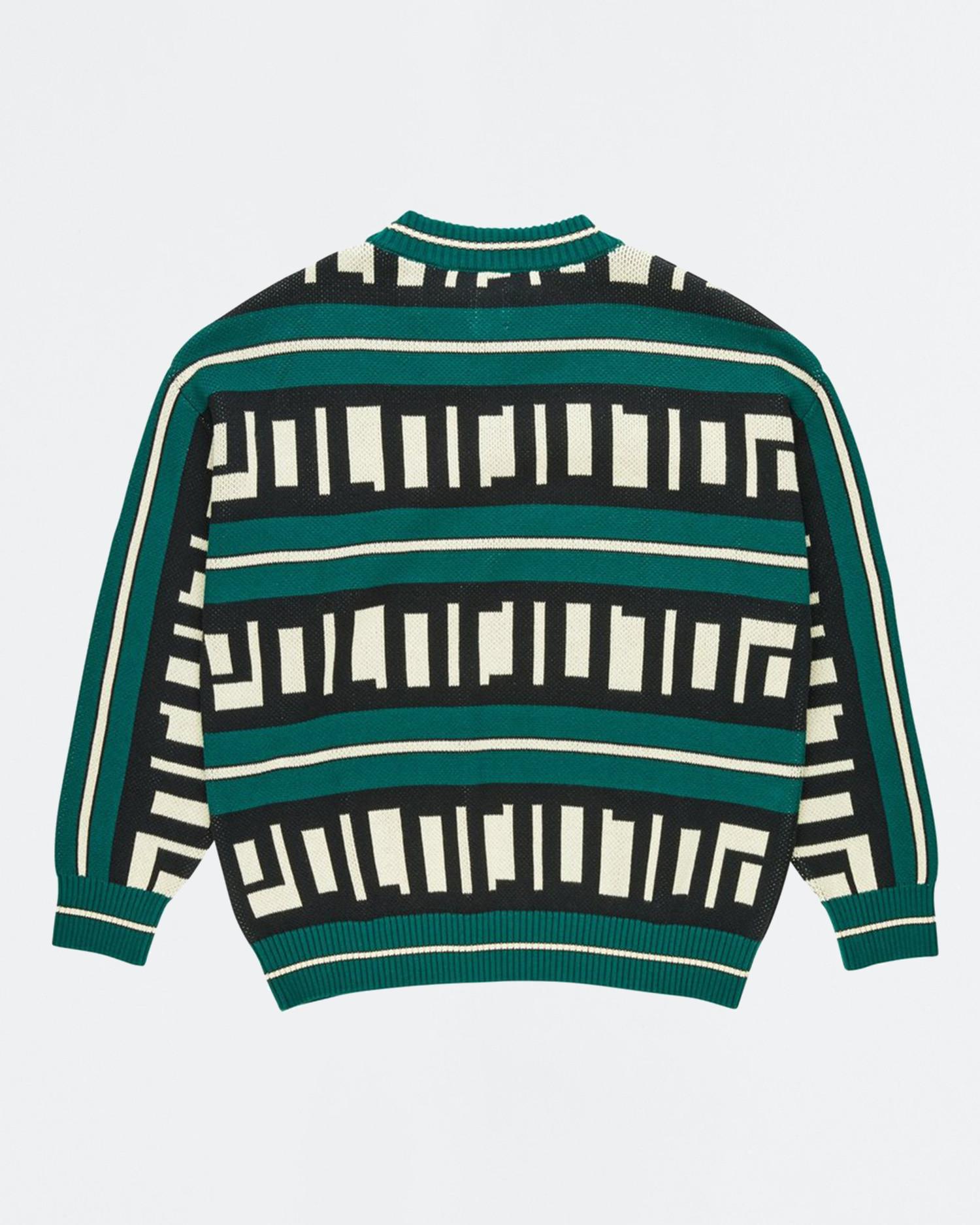 Polar Square Logo Knit Sweater Green