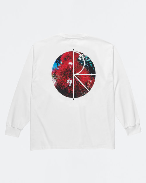 Polar Polar Callistemon Fill Logo Longsleeve White
