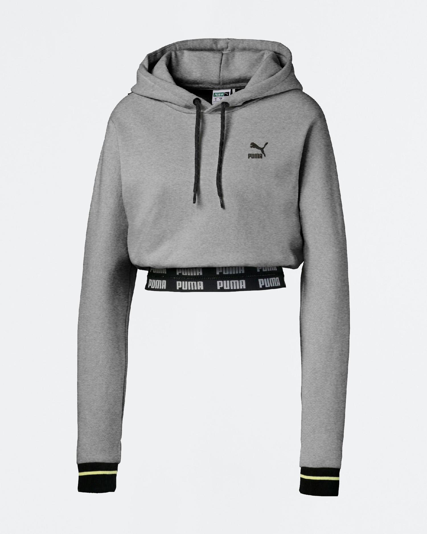 Puma x CSM Cropped hoodie Light gray heather