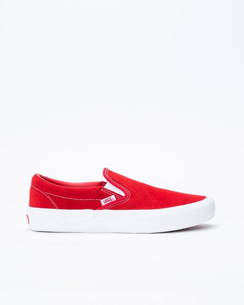 Vans Vans Slip On Pro Suede Red/White