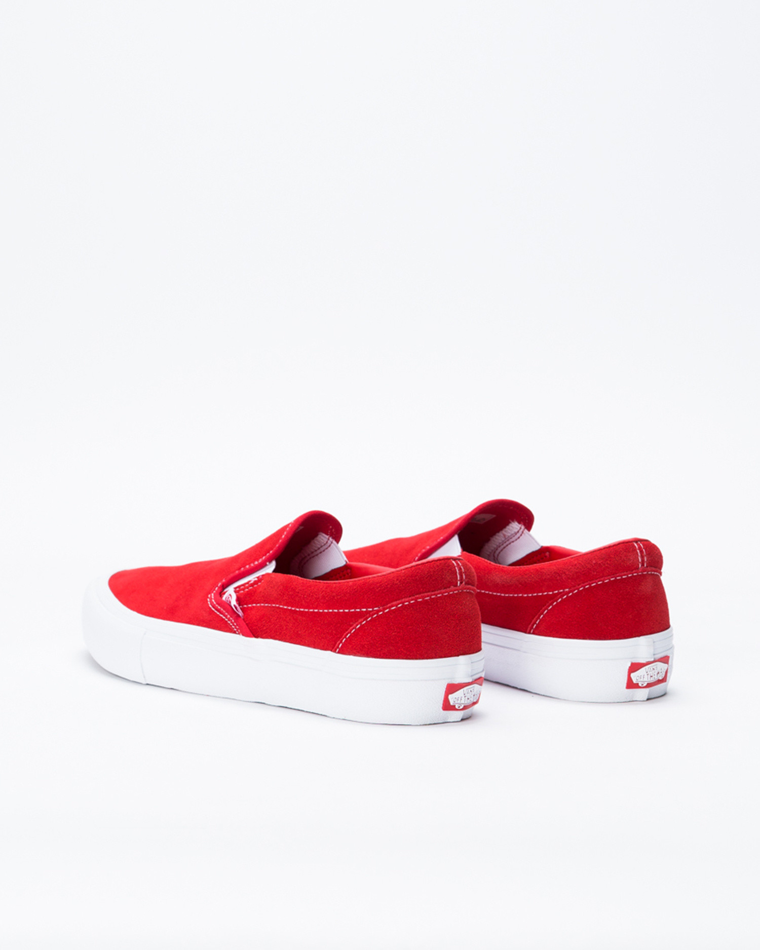 Vans Slip On Pro Suede Red/White