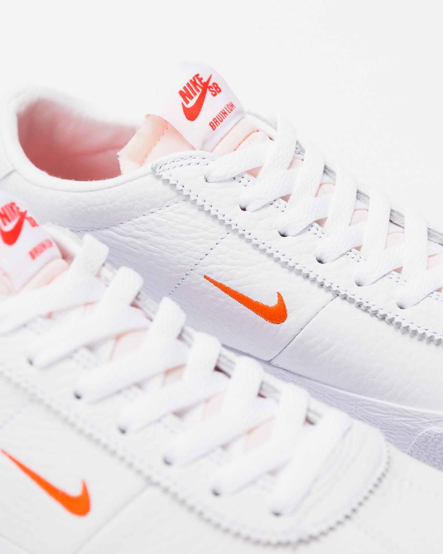 Nike SB Zoom Bruin White/Team Orange-White-Gum Light Brown