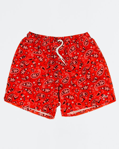 Civilist Civilist Swim Shorts Red Paisley