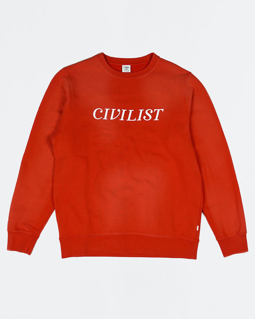Civilist Civilist Chakra Dyed Crew Overdyed Red