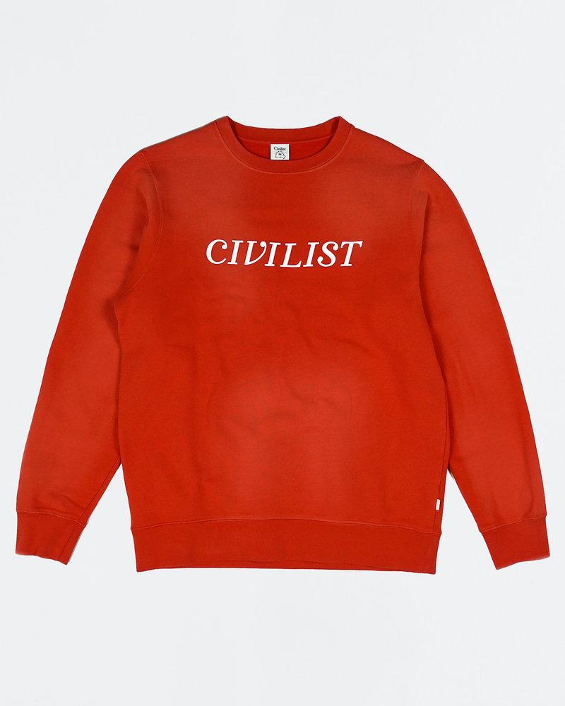 Civilist Civilist Chakra Dyed Crew Overdyed Red