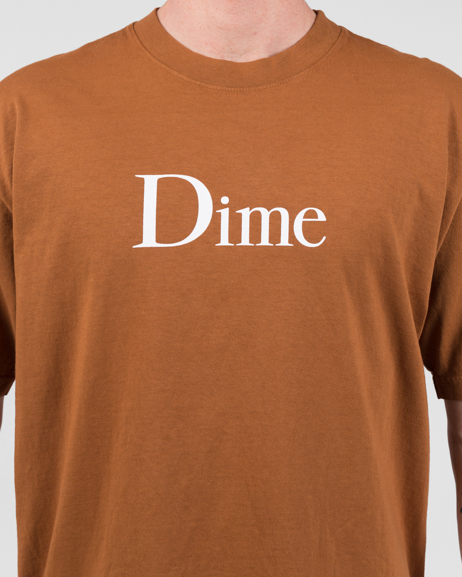 Dime Classic Logo T-Shirt Coffee