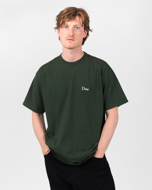 Dime Dime Classic Embroidered T-Shirt Ivy