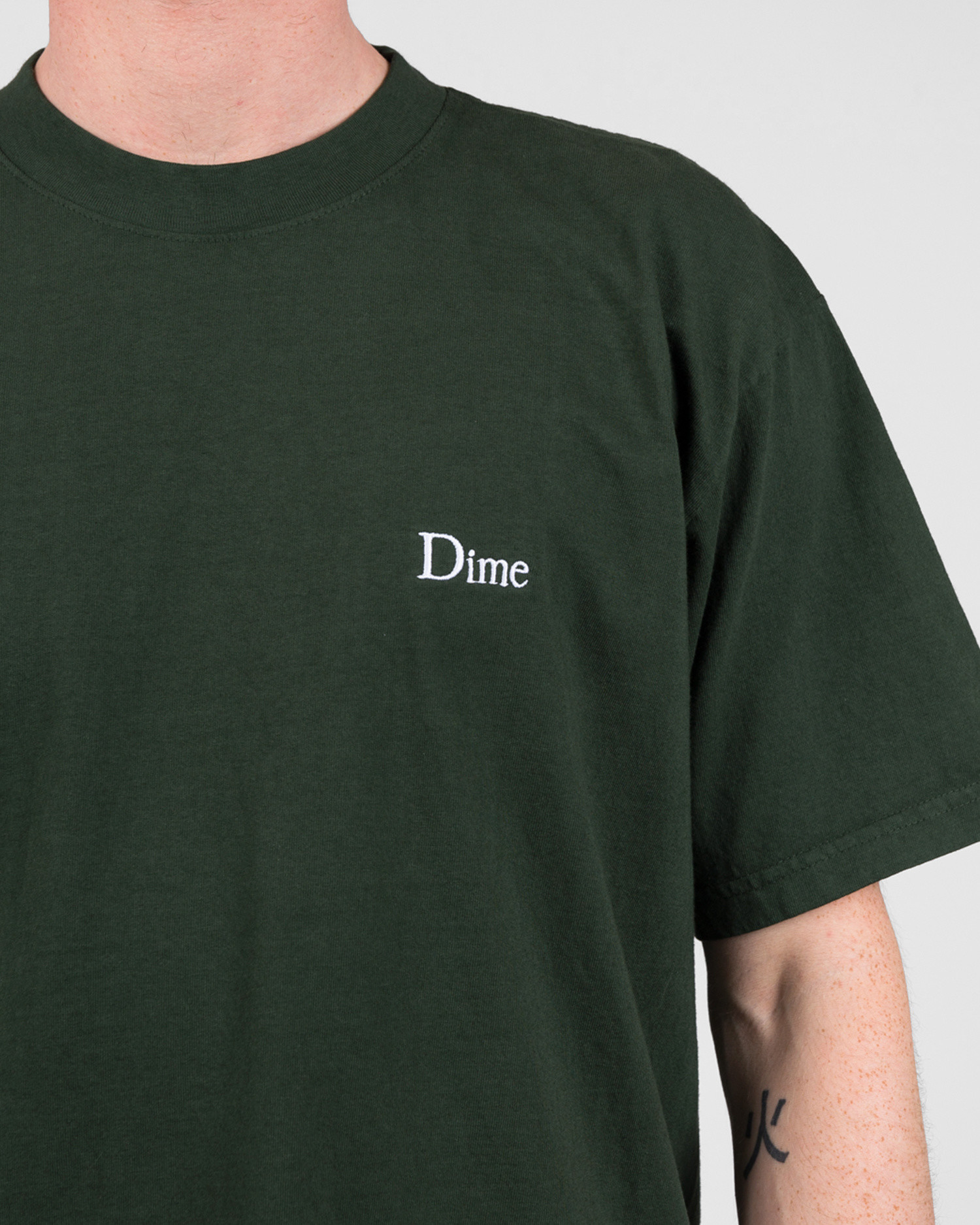 Dime Classic Embroidered T-Shirt Ivy