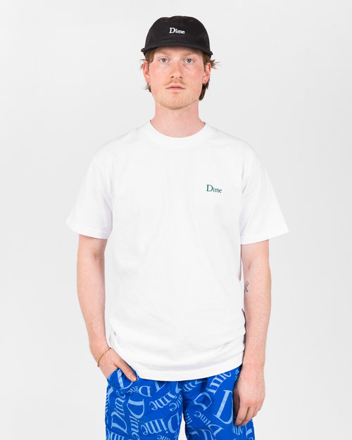 Dime Dime Classic Embroidered T-Shirt White