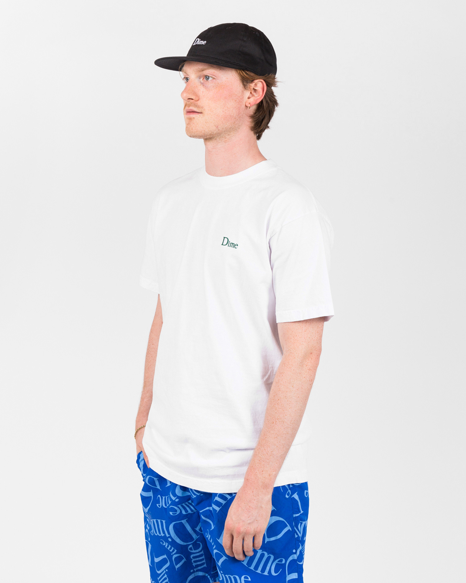 Dime Classic Embroidered T-Shirt White